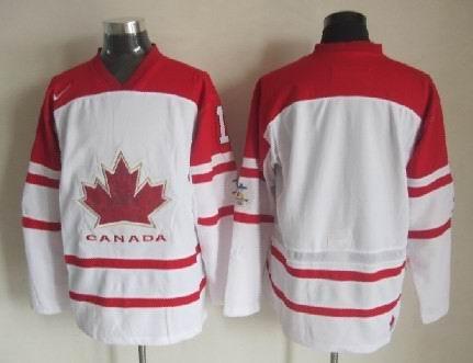 Men's 2010 Olympics Canada Custom White Jersey