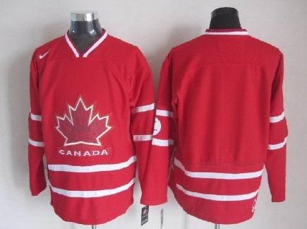 Men's 2010 Olympics Canada  Custom Red Jersey