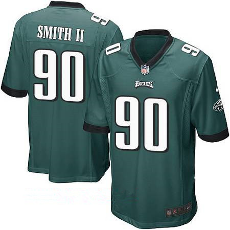 ID94517 Youth Philadelphia Eagles #90 Marcus Smith II Midnight Green Team Color Stitched NFL Nike Game Jersey