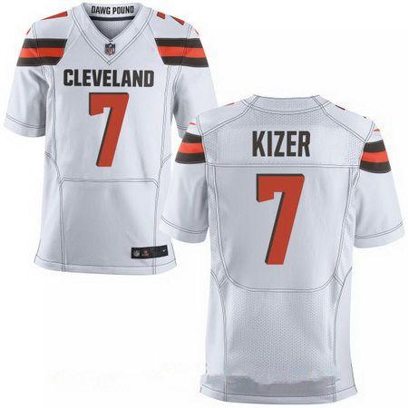 77680f5d3 ... Jersey Mens 2017 NFL Draft Cleveland Browns 7 DeShone Kizer White Road  Stitched NFL Nike Elite Nike Cleveland Browns 27 Jabrill Peppers ...