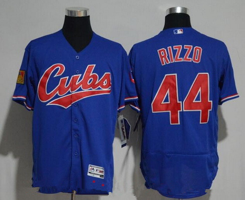 0b1fea09d ... jerseys ( Blue Mens Chicago Cubs 44 Anthony Rizzo Royal Blue 1994 Turn  Back The Clock Stitched MLB Majestic ...