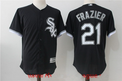 Men's Chicago White Sox #21 Todd Frazier Black Stitched MLB Majestic Cool Base Jersey