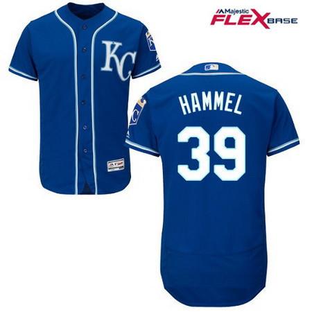 Men's Kansas City Royals #39 Jason Hammel Navy Blue Alternate Stitched MLB Majestic Flex Base Jersey