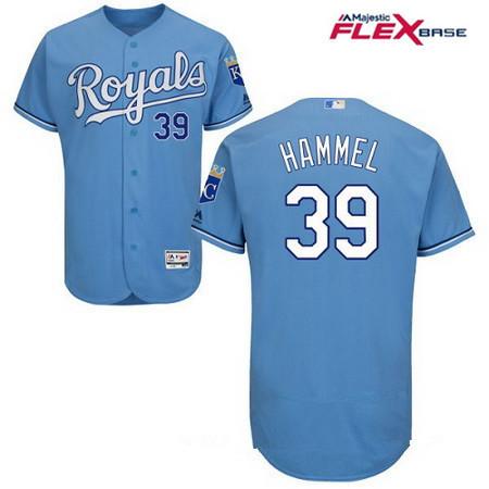 Men's Kansas City Royals #39 Jason Hammel Light Blue Alternate Stitched MLB Majestic Flex Base Jersey