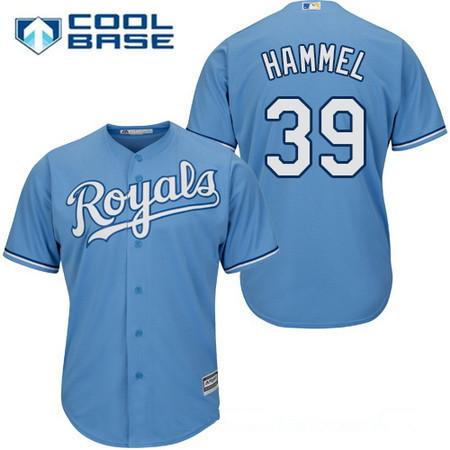 Men's Kansas City Royals #39 Jason Hammel Light Blue Alternate Stitched MLB Majestic Cool Base Jersey