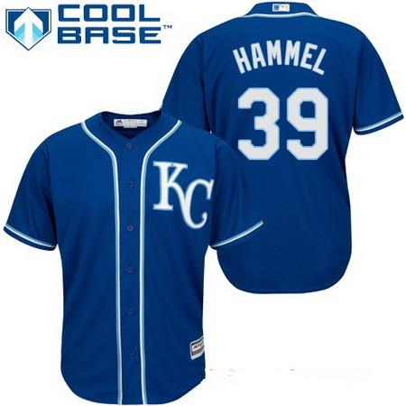 Men's Kansas City Royals #39 Jason Hammel Navy Blue Alternate Stitched MLB Majestic Cool Base Jersey