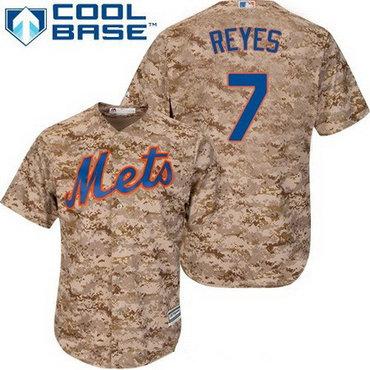 Men's New York Mets #7 Jose Reyes Camo Alternate Stitched MLB Majestic Cool Base Jersey