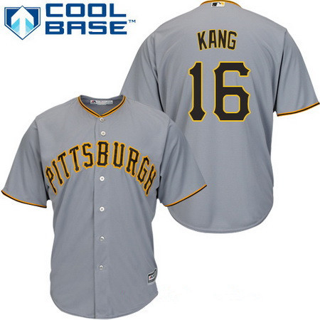 Men's Pittsburgh Pirates #16 Jung-ho Kang Gray Road Stitched MLB Majestic Cool Base Jersey