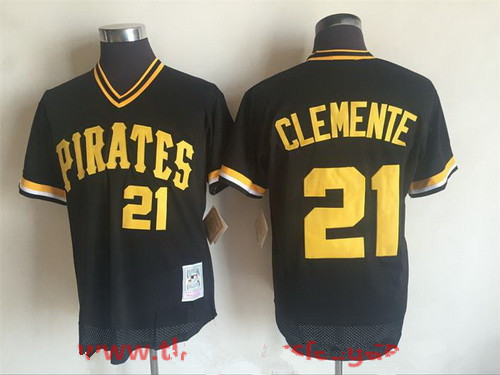 quality design b190e fca21 pittsburgh pirates 21 roberto clemente black throwback jersey