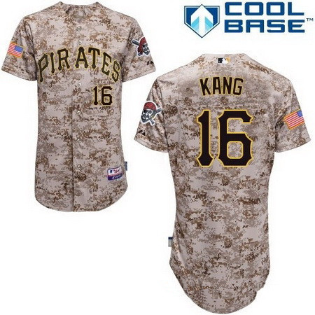 Men's Pittsburgh Pirates #16 Jung-ho Kang Camo Alternate Stitched MLB Majestic Cool Base Jersey