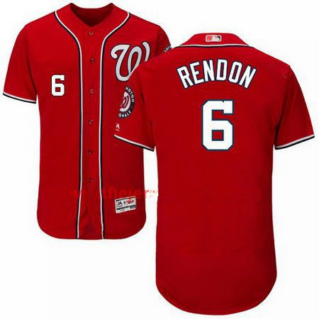Men's Majestic Washington Nationals #6 Anthony Rendon Red Flexbase Authentic Collection MLB Jersey