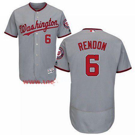 Men's Majestic Washington Nationals #6 Anthony Rendon Grey Flexbase Authentic Collection MLB Jersey