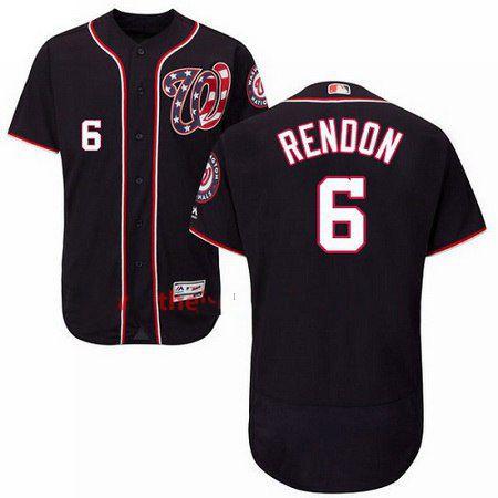 Men's Majestic Washington Nationals #6 Anthony Rendon Navy Blue Flexbase Authentic Collection MLB Jersey