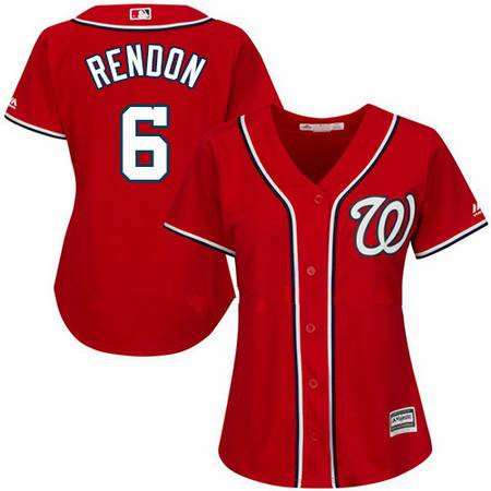 Women's Majestic Washington Nationals #6 Anthony Rendon Authentic Red Alternate Cool Base MLB Jersey