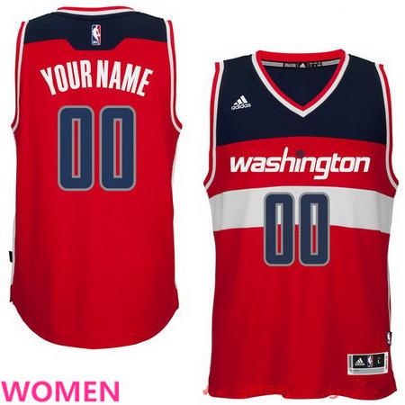 Women's Washington Wizards Red Custom adidas Swingman Road Basketball Jersey