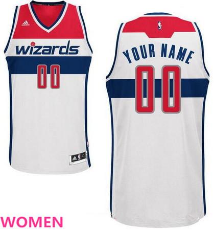 38f2c24a9edc ... NBA Jersey Womens Washington Wizards White Swingman Custom adidas  Swingman Home Basketball Jersey ...