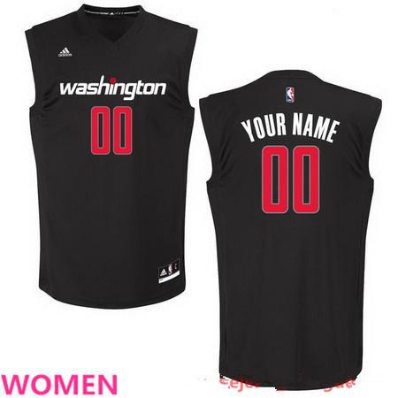 Women's Washington Wizards Custom adidas Black Fashion Basketball Jersey