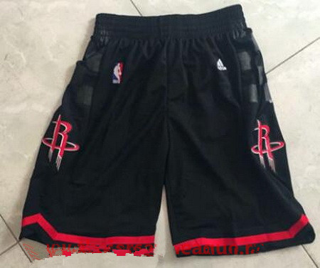 Men's Houston Rockets Black Basketball Shorts