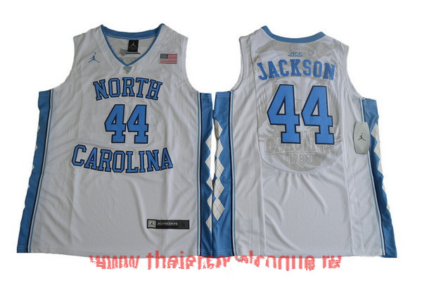 Men's North Carolina Tar Heels #44 Justin Jackson White College Basketball 2017 Brand Jordan Swingman Stitched NCAA Jersey