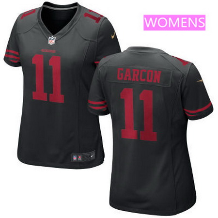 7e2f5c8dd Women s San Francisco 49ers  11 Marquise Goodwin Black Alternate Stitched  NFL Nike Game Jersey