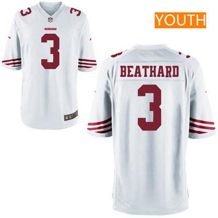 42ae45ddc08 ... jersey youth 2017 nfl draft san francisco 49ers 3 c. j. beathard white  road stitched nfl nike