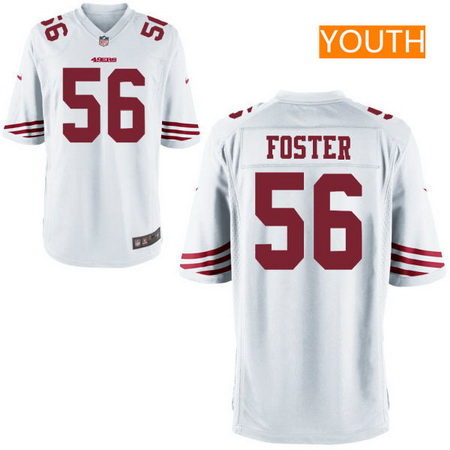 Youth 2017 NFL Draft San Francisco 49ers #56 Reuben Foster White Road Stitched NFL Nike Game Jersey