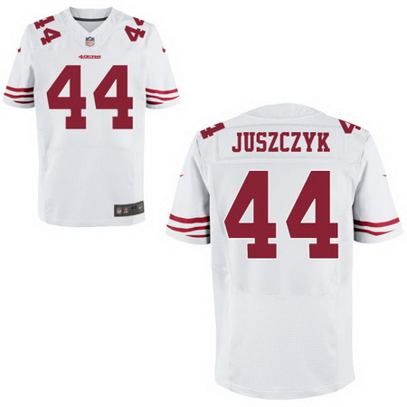 89bb680ac ... Mens San Francisco 49ers 44 Kyle Juszczyk White Road Stitched NFL Nike  Elite Jersey ...
