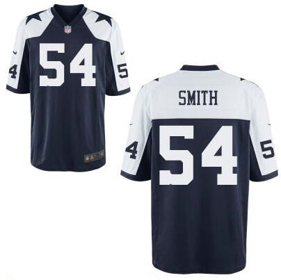 Men's Dallas Cowboys #54 Jaylon Smith Navy Blue Thanksgiving Alternate Stitched NFL Nike Elite Jersey