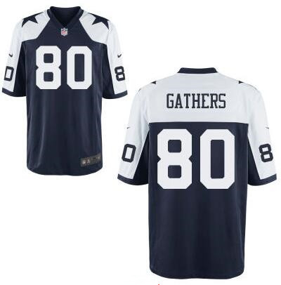 Men's Dallas Cowboys #80 Rico Gathers Navy Blue Thanksgiving Alternate Stitched NFL Nike Elite Jersey