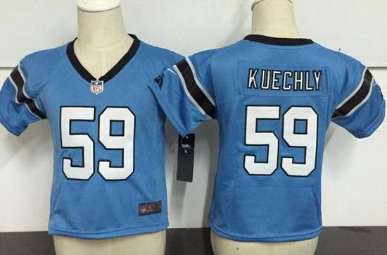 Toddler Carolina Panthers #1 Cam Newton Light Blue Alternate Stitched NFL Nike Game Jersey