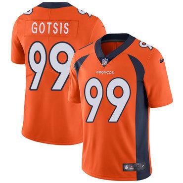ba091f406 Nike Denver Broncos  99 Adam Gotsis Orange Team Color Men s Stitched ...