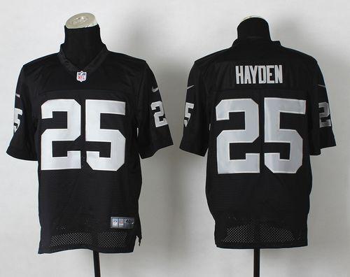 Nike v Raiders #25 D.J.Hayden Black Team Color Men's Stitched NFL Vapor Untouchable Limited Jersey