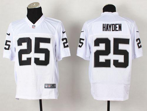 Nike Oakland Raiders #25 D.J.Hayden White Men's Stitched NFL Vapor Untouchable Limited Jersey