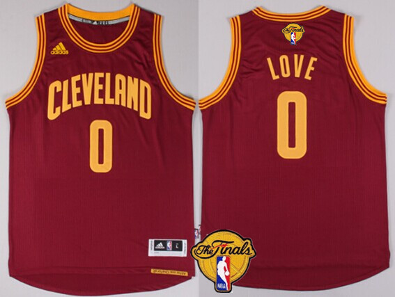 Men s Cleveland Cavaliers  0 Kevin Love 2017 The NBA Finals Patch Red Jersey 47ef43fb0