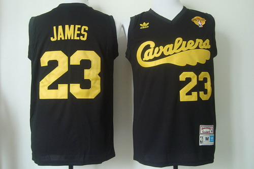 d5a2ab5374c ... Jersey Authentic collection at Mens Cleveland Cavaliers 23 LeBron James  2017 The NBA Finals Patch 2009 Black Hardwood Classics Soul ...