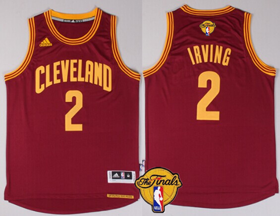 acece2db88f ... Mens Cleveland Cavaliers 2 Kyrie Irving 2017 The NBA Finals Patch Red  Jersey ...