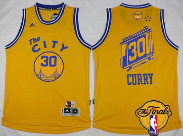 ... Mens Golden State Warriors 30 Stephen Curry 2015-16 Retro Yellow 2017  The NBA ... e78554d0b