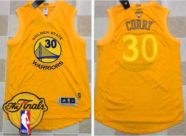 Men's Warriors #30 Stephen Curry Gold AU 2017 New 2017 The Finals Patch Stitched NBA Jersey