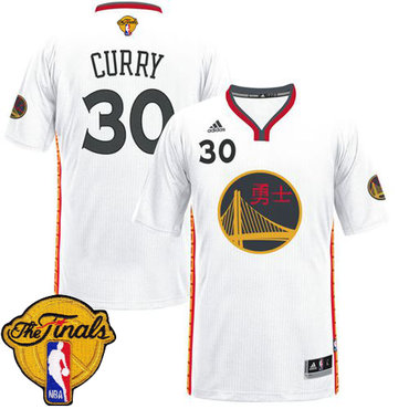 mens warriors 30 stephen curry white 2017 chinese new year the finals patch stitched nba - Warriors Chinese New Year Jersey