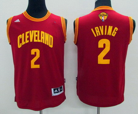 ... Youth Cleveland Cavaliers 2 Kyrie Irving Red 2017 The NBA Finals Patch  Jersey ... 1bd92c1eb