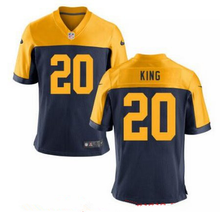 ID94419 Men\'s 2017 NFL Draft Green Bay Packers #20 Kevin King Navy Blue Gold Alternate Stitched NFL Nike Elite Jersey