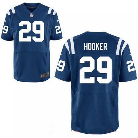 Men's 2017 NFL Draft Indianapolis Colts #29 Malik Hooker Royal Blue Team Color Stitched NFL Nike Elite Jersey