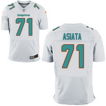 Men s 2017 NFL Draft Miami Dolphins  71 Isaac Asiata White Road Stitched  NFL Nike Elite 66eb3d6f9