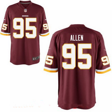 ID94373 Men\'s 2017 NFL Draft Washington Redskins #95 Jonathan Allen Burgundy Red Team Color Stitched NFL Nike Elite Jersey