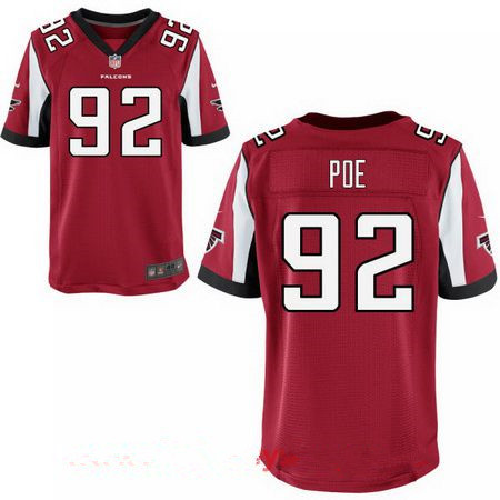 ID94449 Men\'s Atlanta Falcons #92 Dontari Poe Red Team Color Stitched NFL Nike Elite Jersey