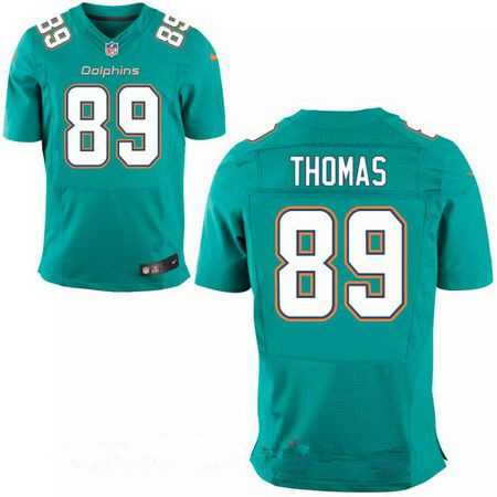 Men's Miami Dolphins #89 Julius Thomas Green Team Color Stitched NFL Nike Elite Jersey
