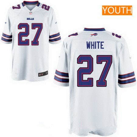 9c3f84bdd4c ... Elite Team Color Jersey 20.99 Youth 2017 NFL Draft Buffalo Bills 27  TreDavious White White Road Stitched NFL ...