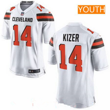 ID94254 Youth 2017 NFL Draft Cleveland Browns #14 DeShone Kizer White Road Stitched NFL Nike Game Jersey