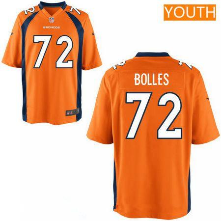 4a4d05830 ... Youth 2017 NFL Draft Denver Broncos 72 Garett Bolles Orange Team Color  Stitched NFL Nike Game Mens ...