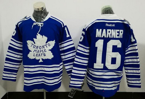 Men's Toronto Maple Leafs #16 Mitchell Marner Blue 2014 Winter Classic Stitched NHL Reebok Hockey Jersey